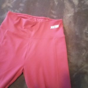 Cropped Justice pink  legging size 14/16